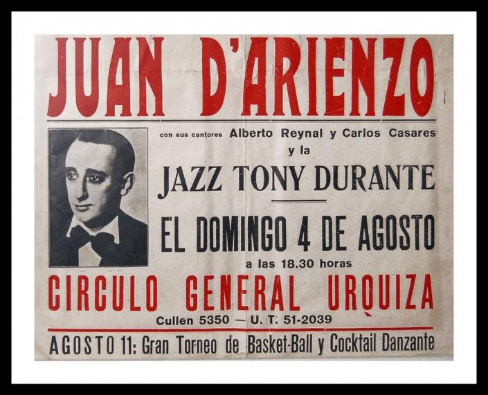 Afiche de D'Arienzo - Regalo de la flia. Peralta Ramos
