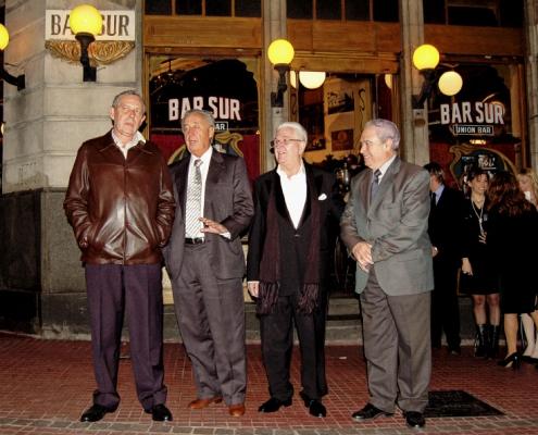 Rafael Estrella, Osvaldo Comide, Ricardo Montesino y Don José Benito López Carballedo