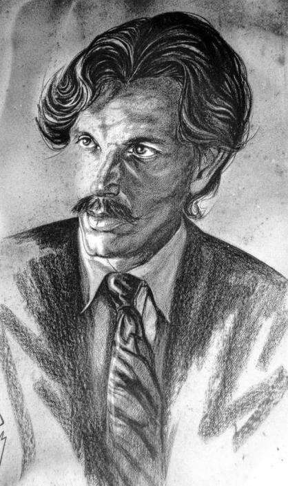 Retrato de Ricardo Montesino por Máximo Paz