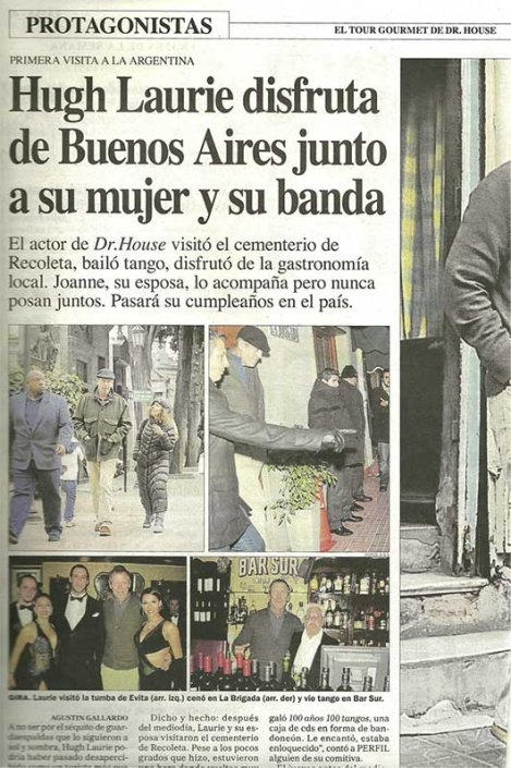 Hugh Laurie in Buenos Aires